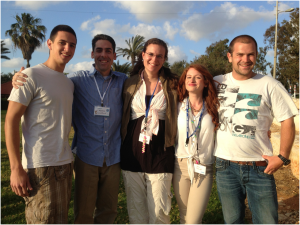 Camp Director Brian Mitchell (2nd from the left) with the 4 amazing 2013 Israeli staff.
